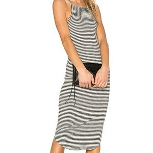 TOBI Striped Halter Midi Dress